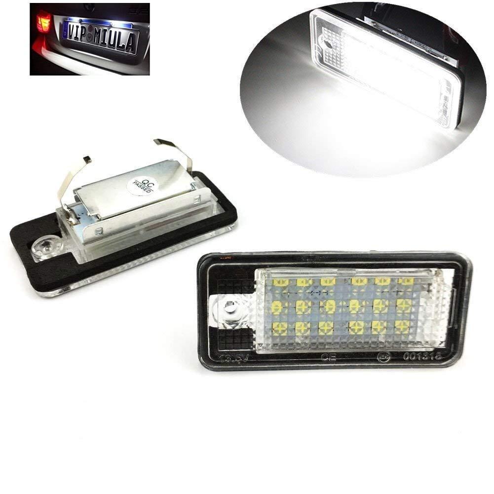 Led kennzeichenleuchte mit E Zulassung Canbus 18pcs SMD LED Lampe (2er-Pack) PAVEDGE LSPLATE18SMDAUDI