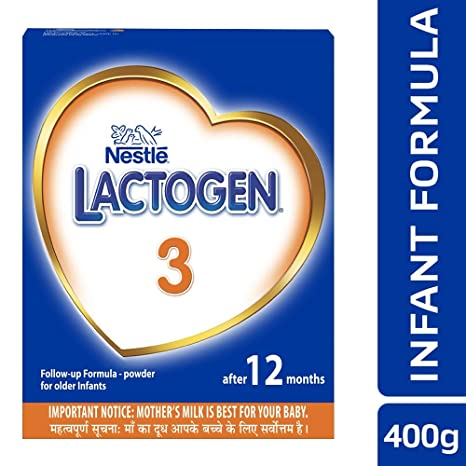 Nestle Lactogen 3 Follow-Up Infant Formula Powder, After 12 months, 400g Pack
