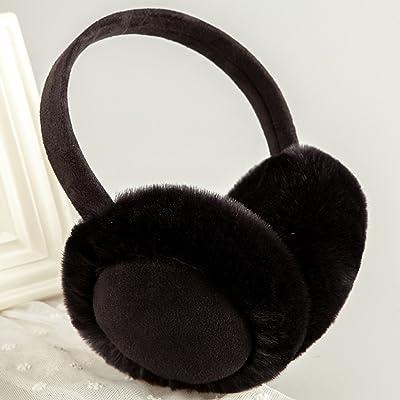 MUMA Cache-oreilles Hiver Gardez chaud Oreille Couverture Oreille Sacs Belle Protection des Oreilles Hommes et Femmes ( Couleur : Noir )