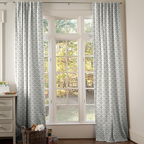 Carousel Designs French Gray Quatrefoil Drape Panel 96-Inch Length Standard Lining 42-Inch Width by Carousel Designs