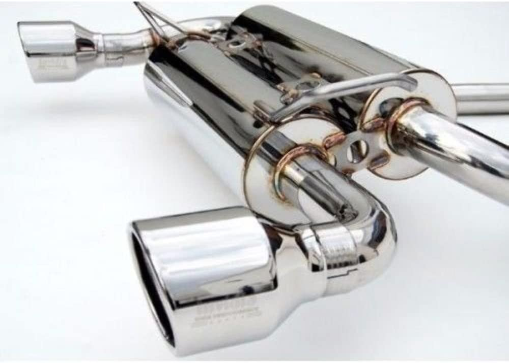 Invidia HS02N3ZGIS Gemini Cat-Back Exhaust System with Stainless Steel Rolled Tip for Nissan 350Z