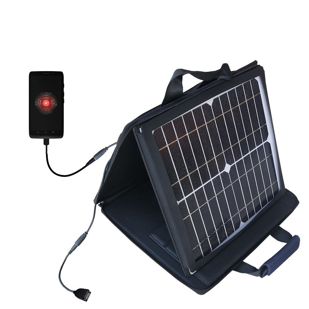 Motorola Droid Mini compatible SunVolt Portable High Power Solar Charger by Gomadic - Outlet- speed charge for multiple gadgets by Gomadic