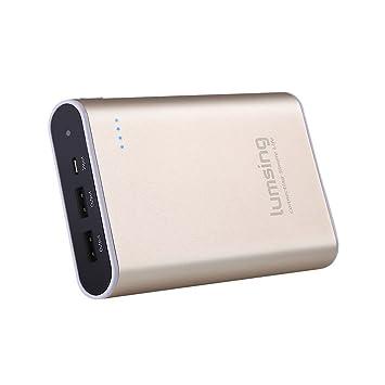 Lumsing Batería externa 13400mAh Grand A1 Plus, Cargador portátil externo, Power bank para iPhones, iPads, Samsung Galaxy, Android y otros Smartphones ...