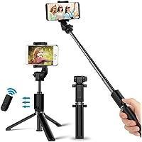 Bovon Perche Selfie Bluetooth Selfie Stick Trépied Monopode avec Télécommande Rechargeable, Bâton Réglable Télescopique, Support Téléphone pour iPhone XS Max/XR/XS/X/8/7/7 Plus/6S/6, Samsung etc