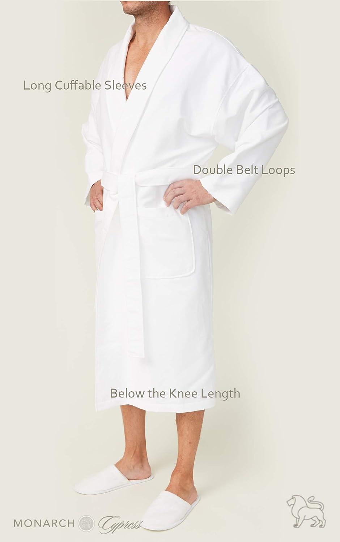 f6dda62e92 Monarch Cypress Chamois Shawl Hotel Robe - Lightweight Microfiber Absorbent  Soft Spa Bathrobe at Amazon Women s Clothing store