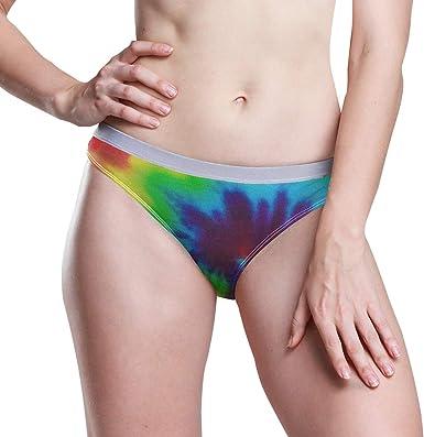 bikini cut underwear w comfortable fit purple blue colorful hand dyed undies for boho ladies XL women/'s tie dye cotton panties