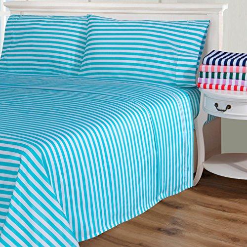 61j4Y4VdOjL - Superior 600 Thread Count Cabana Stripe Cotton Blend Sheet Set