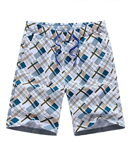 Holdwell Men's Printed Boardshorts Swimming Trunks / Pants With Front Drawstring