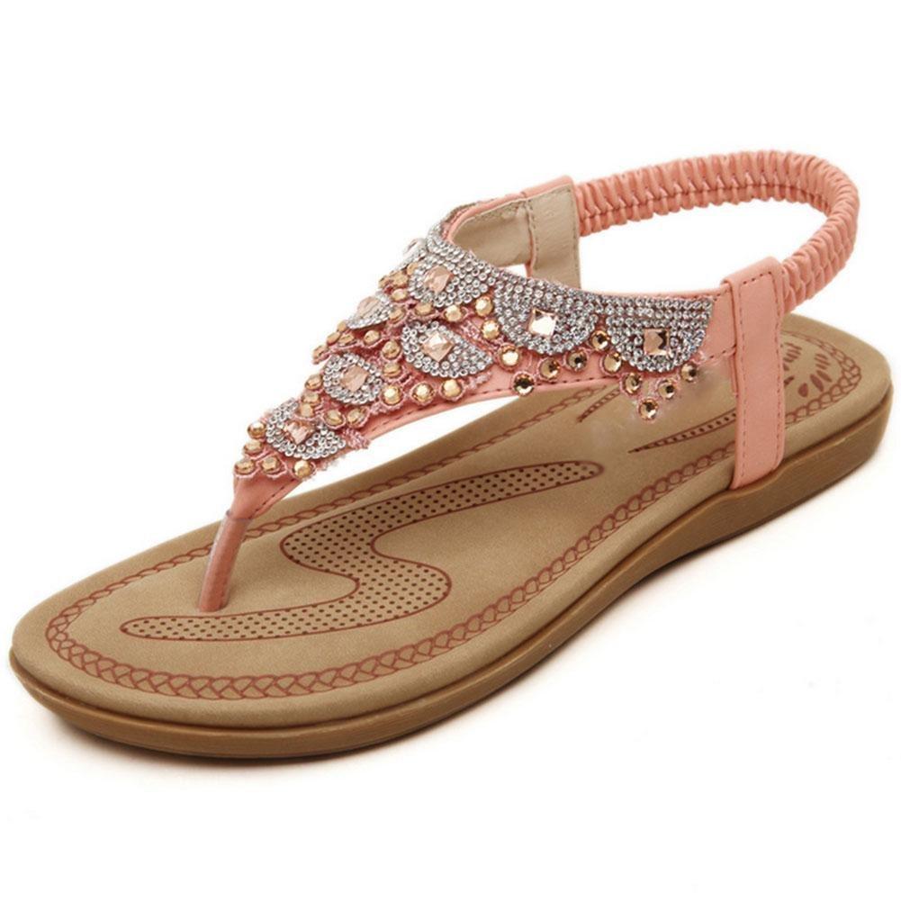 RuiWort-Art weibliche Sandaleen Klippzehe Strandschuhe flache Schuhe wilden Schuhe