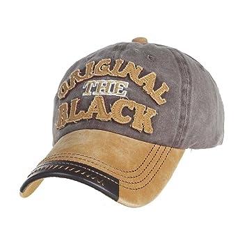 dcae3fe7ab2 Amazon.com  Men Women Adjustable Baseball Cool Cap Vintage Snapback Hat  Unisex Sun Cap (Yellow)  Beauty