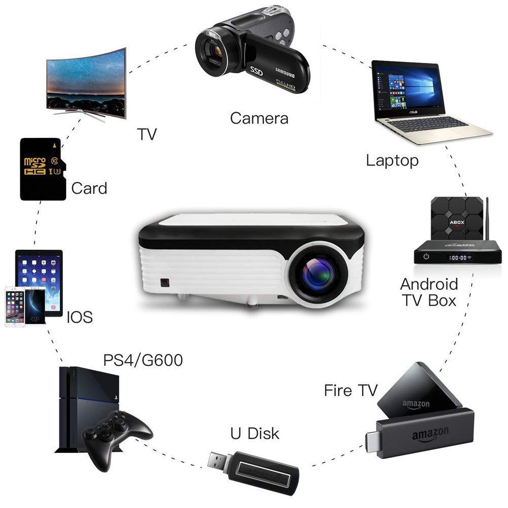 ZDNP LCD 1080P HD Lleno del proyector, Pantalla inalámbrica Wif ...