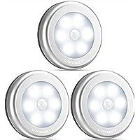 URPOWER Motion Sensor Closet Light, Motion-Sensing Battery Powered LED Stick-Anywhere Nightlight,Wall Light for Entrance…