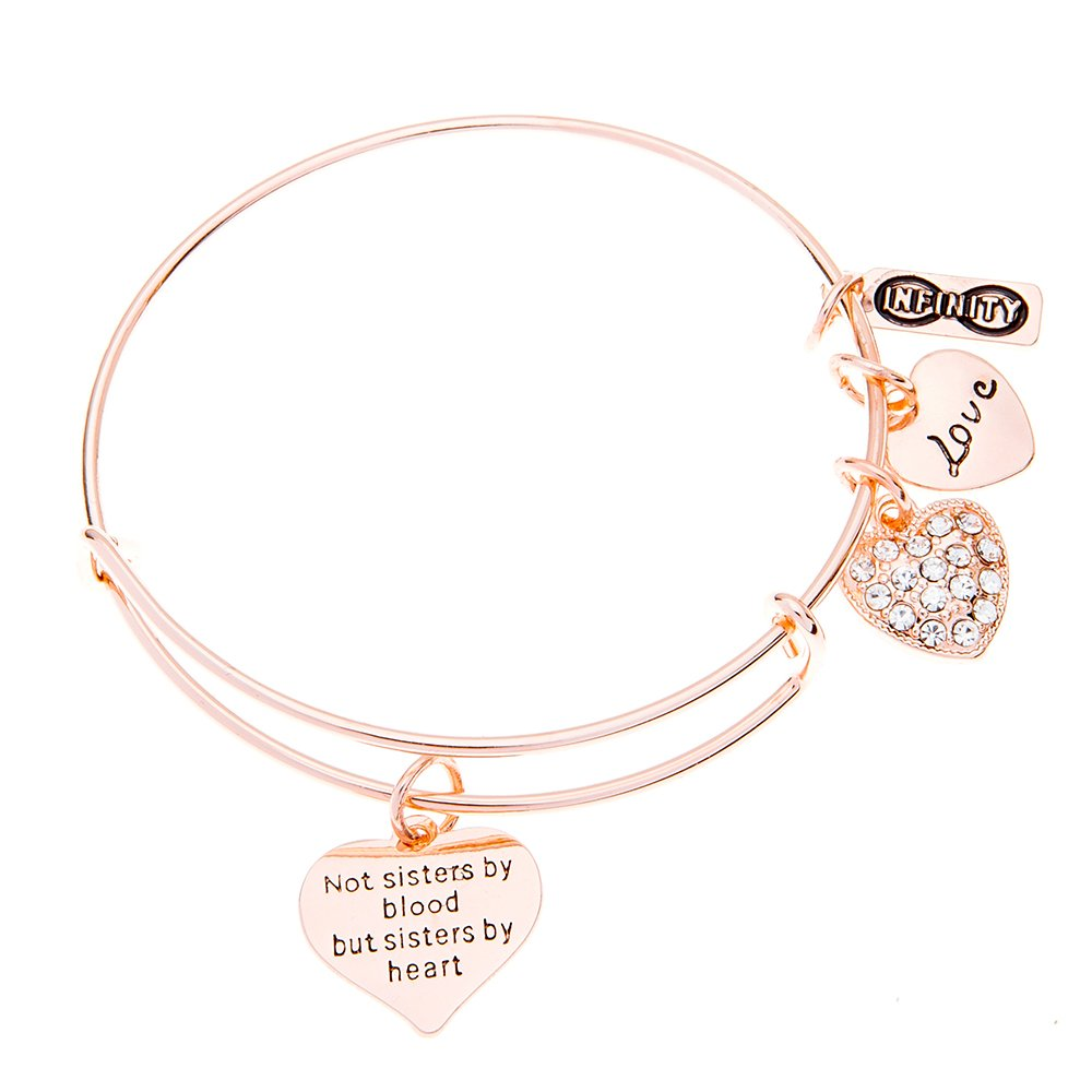 Infinity Collection Best Friends Bracelet- Not Sisters by Blood But Sisters by Heart Bracelet, Best Friend Jewelry