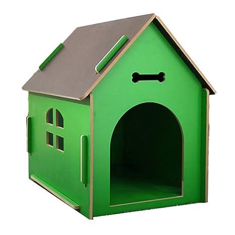LDFN Kennel Balcón Exterior Patio Conservativo Lluvia Perro Casa Gato Nido Mascota Villa Calor,E-L