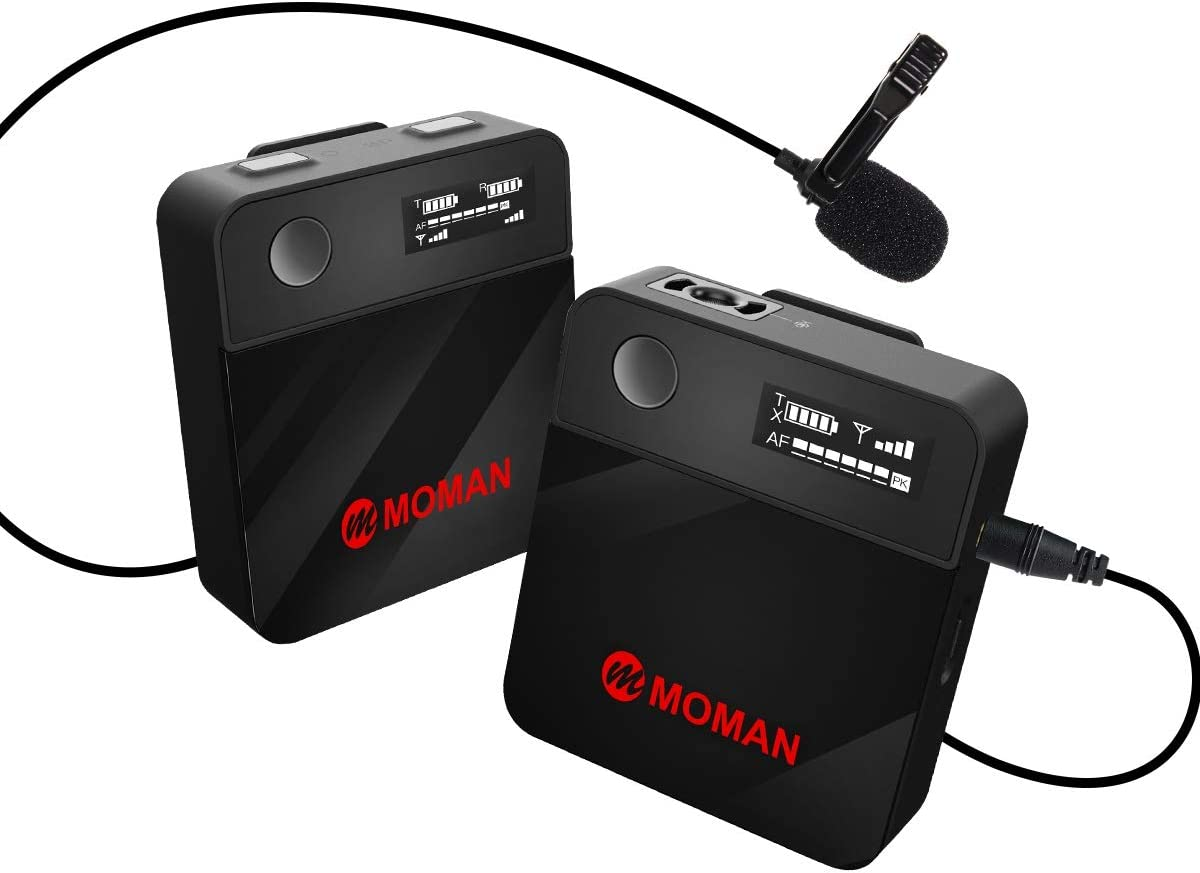 Moman Lavalier Funkmikrofon 2 4 Ghz Kabellos Kamera
