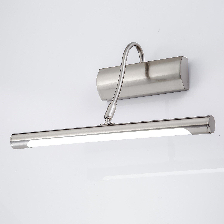 Lampe Salle de Bain LED 5W 32cm Blanc Chaud IP44 Lampe pour Miroir Eclairage Pour Miroir Maquillage Ameublement Meuble Lumière Applique Murale 180º Réglable WENSENY
