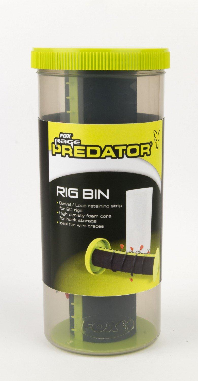 Schaumstoff Fox Rage Predator Rig Bin zur Aufbewahrung von fertigen Rigs Transport Vorfachbox Raubfischvorfach f/ür 20 Rigs