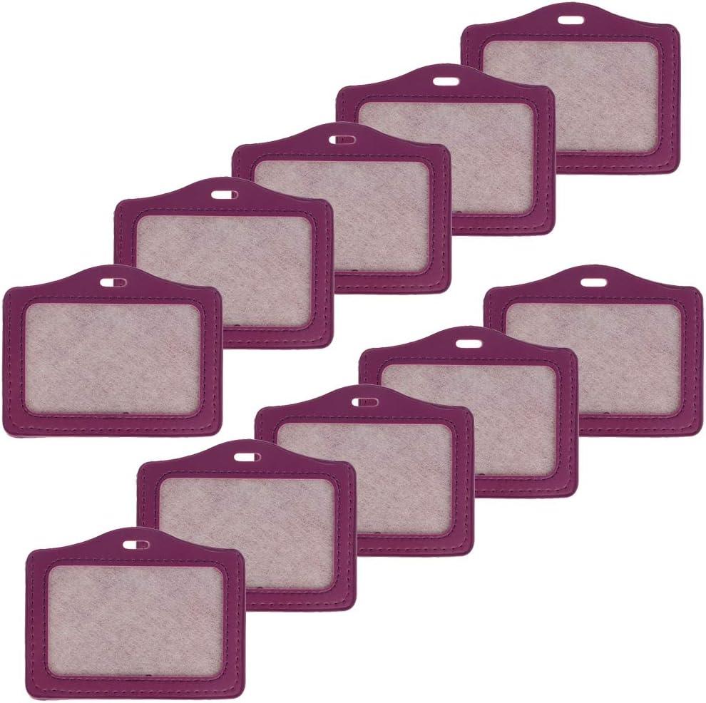 perfk Protettore Per Porta Badge Identificativo ID Tessera Carta Credito Sicurezza con Cordino Aarancia