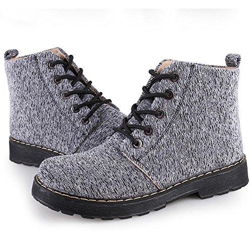 boots cortos tobillo flat mujer zapatos cordones canvas thicker 1 warm martin 6Pqwz5