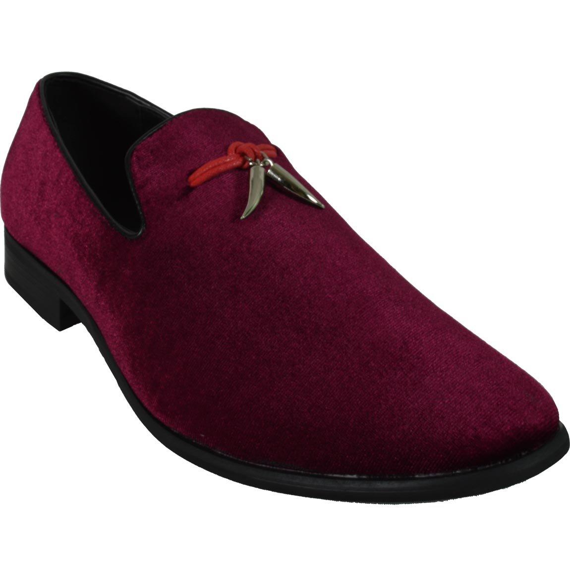 Sedagatti Men's Formal Shoes Casual Loafer Slip-On SED4013 (8.5, Wine) by Sedagatti (Image #3)