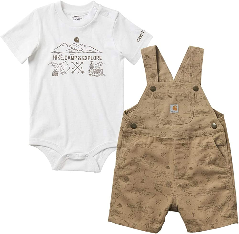 Carhartt Baby Boys 2-Piece Shortall Clothing Set