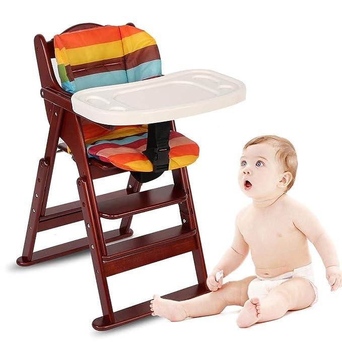 Trona de madera evolutiva para niño, color madera Natural, de los 6 meses hasta los 5 años, hasta los 30 kg(caffè)