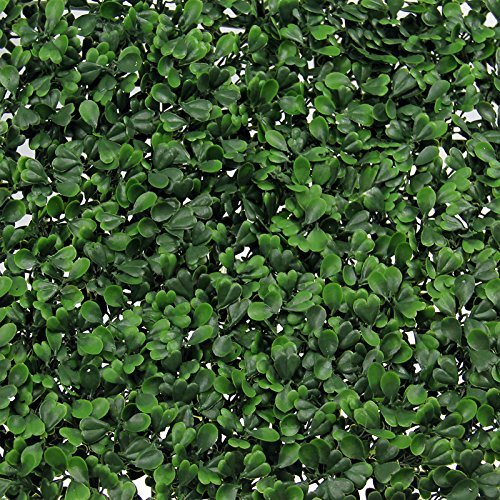 Curb Chain Cover (Synturfmats Artificial Boxwood Hedge Privacy Fence Screen Greenery Panels - Two Tone Green (20
