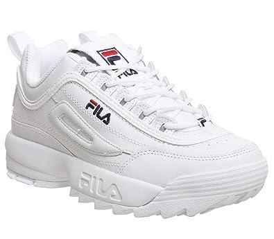 Fila Disruptor Ii Premium Womens Fashion Trainers in White - 6.5 US