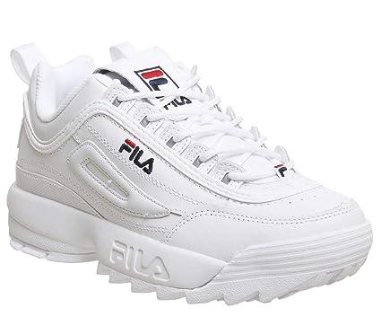 d4fc326c94d041 Fila Femmes Blanc Disruptor II Premium Basket: Amazon.fr: Chaussures et Sacs