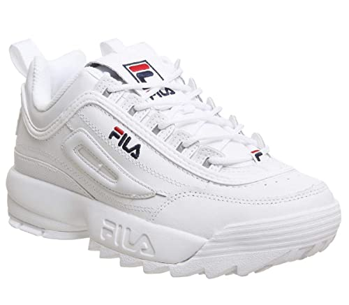 66c003bfa84e Fila Womens White Disruptor II Premium Sneakers  Amazon.ca  Shoes ...