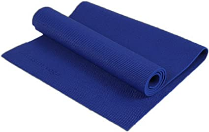 Amazon Com Panda Superstore Eco Yoga Mat Pvc Yoga Mat 6mm Exercise Mat Navy Sports Outdoors