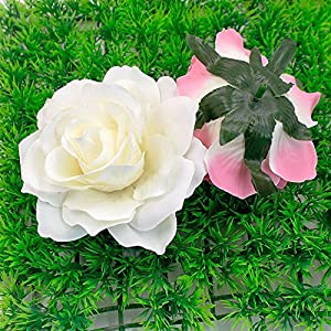 8pcs/lot 10cm Big Silk Blooming Roses Artificial Flower Head for Wedding Decoration DIY Wreath Gift Scrapbooking Craft Flower 2