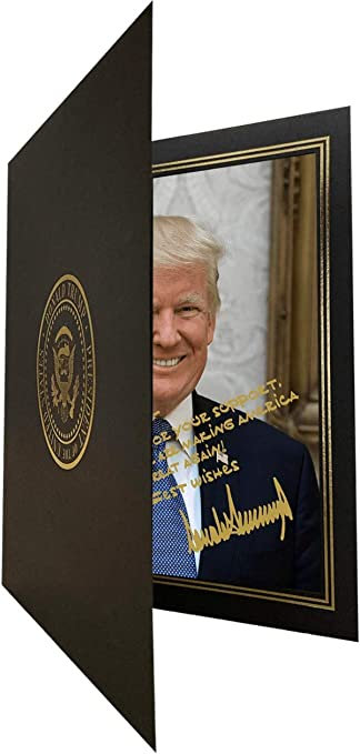 Donald Trump 8x10 Signed photo Customized to your name autographed president