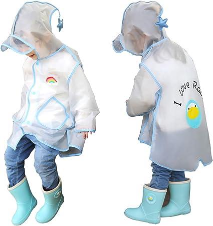 SCHUANG Stivali da Pioggia per Bambini Impermeabili Set