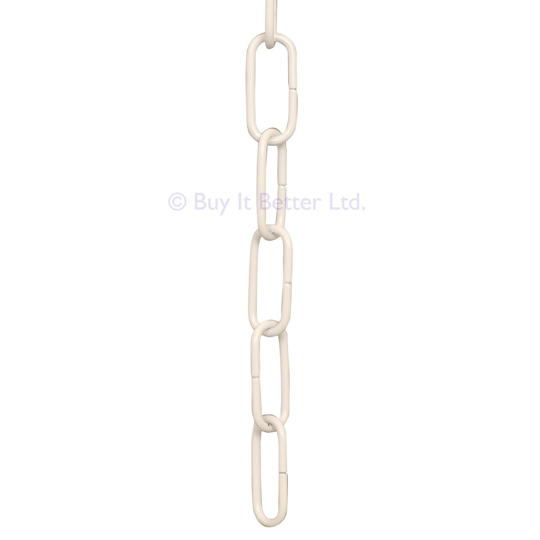 2m White Open Link Chain - For Chandelier & Lighting - Medium - 34X15MM - Ch-4 Buy It Better