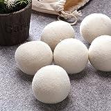 Wool Dryer Balls, AmuseNd Felt Balls Soften Laundry Balls Natural Fabric Softener, Reusable, Reduce Wrinkles & Static Cling -Pack of 6