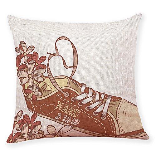 CUCUHAM Home Decor Cushion Cover Fashion Shoes Throw Pillowc