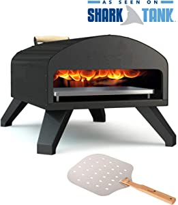 Bertello Outdoor Pizza Oven Black + Pizza Peel Combo