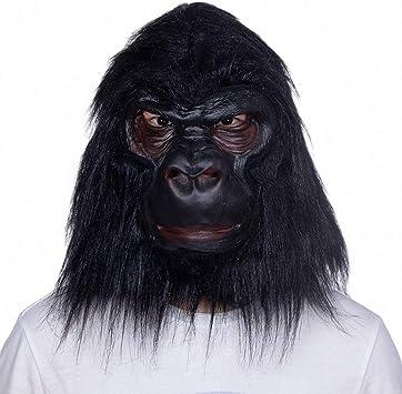 Máscara de Cabeza de Animal Gorila de Halloween, Látex máscara ...