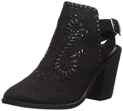 Sugar Women's SGR-Realness Ankle Boot Black Fabric Size 7.0