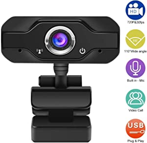 Pledulab Webcam 720p Computer Camera with Microphone, Recording Pro Video Web Camera for Calling, Conferencing, Live Streaming Widescreen Webcam for Microsoft Teams, Dingtalk