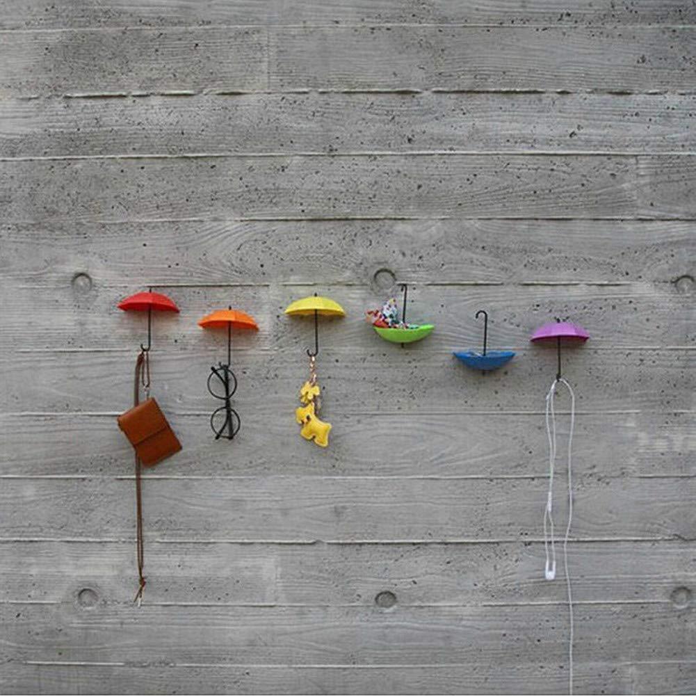 D.RoC Gancio chiave creativo Ganci da parete adesivo 6 pezzi Decorazione da muro per casa/ufficio