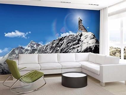 Decorazioni Per Casa Montagna : Malilove foto personalizzata 3d wallpaper camera montagne innevate