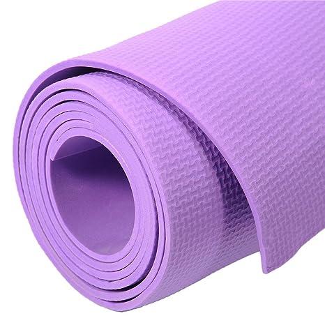 Estera de la yoga de los deportes estera antideslizante de la yoga de la aptitud del medio ambiente grande impermeable ya prueba de polvo, muy ...