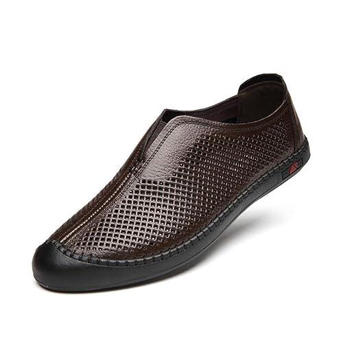 Zapatos Casuales 2018 para Hombre, Zapatos ahuecados de Verano, Zapatos Mocasines cómodos y Transpirables, Mocasines Planos, Zapatos de conducción: ...