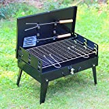 Dishan Convenient Folding Charcoal BBQ Grill for 3 - 4 Person Outdoor Camping Barbecue Roasting Picnic Family Party Grill