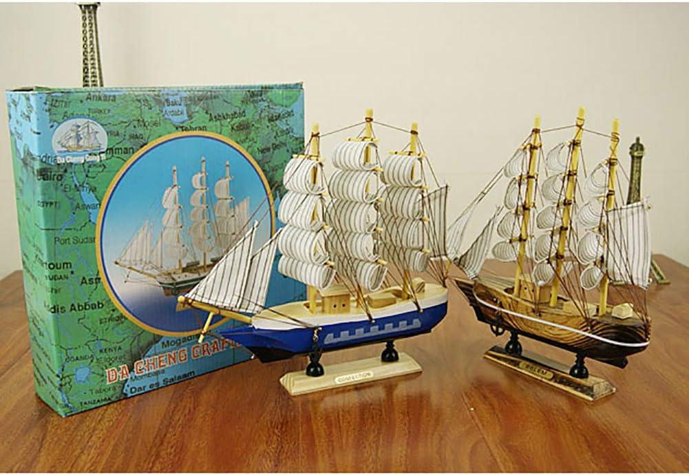 Kasfam Holz Segelschiff Deko Retro Segeln Modellschiff Mittelmeer Nautisch Maritim Dekoartikel Flaggschiff 24cm Zuf/ällige Farbe