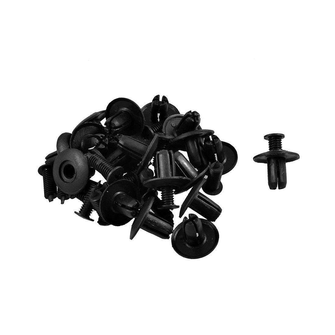 Rivetti in plastica a vite clip mollette forate 6mm (20 pezzi) sourcing map a12102900ux0570