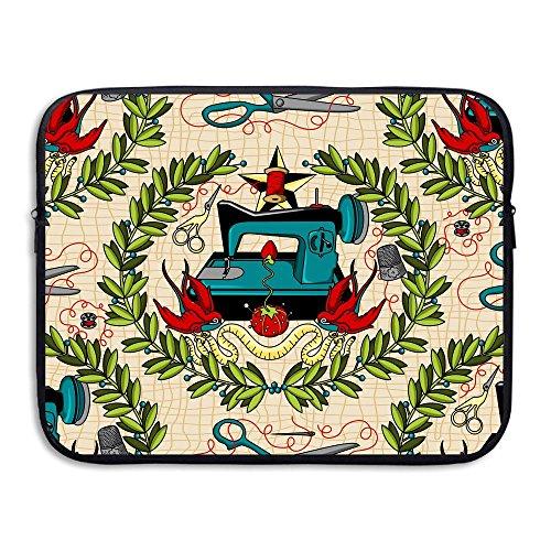 Sewing Machine Tattoo Laptop Storage Bag - Portable Waterproof Laptop Case Briefcase Sleeve Bags -
