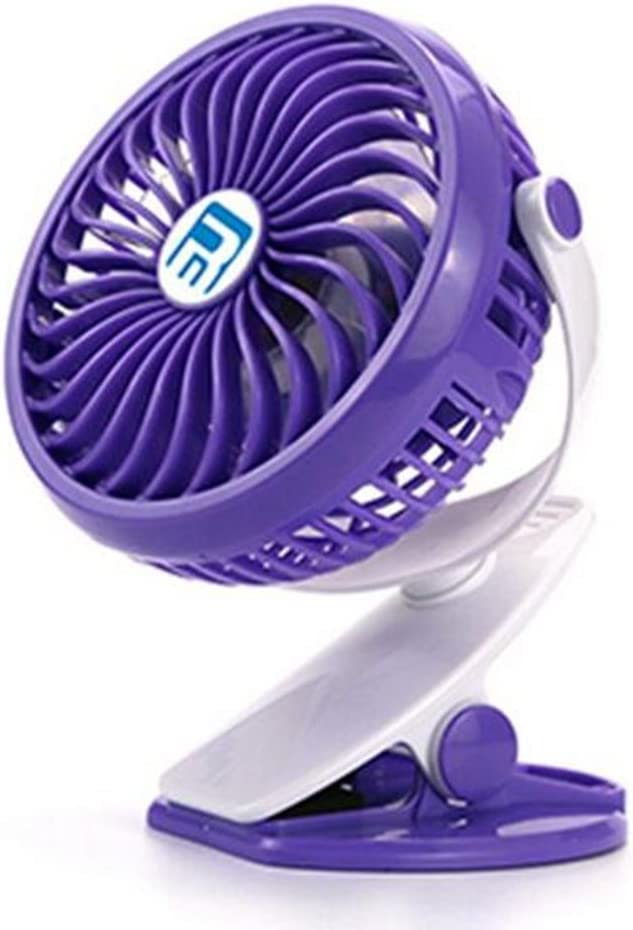 FJY Clip on Fan Mini Desk Fan Portable,360 Degree Rotation,2200mAh Rechargeable Battery,Operated Cooling Fans,for Table,Baby Stroller,Car,Camping,Home,Office MN002 purple